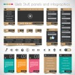 Web Design Stuff: price panels,forms, headers, etc — Stock Vector