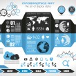 Infographic elements - set of paper tags, technology icons,... — Imagen vectorial