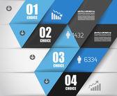 Modèle de conception infographique avec des étiquettes en papier. — Vecteur