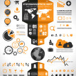 Infographic elements - set of paper tags, — Vettoriali Stock