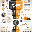 Infographic elements - set of paper tags, — Vector de stock #26913735