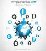 Infographics concept background art — Stock Vector