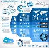 Infografía elementos - conjunto de etiquetas de papel, — Vector de stock