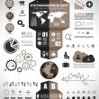 Infographic elements - set of paper tags, technology icons... — Stock Vector #26969943
