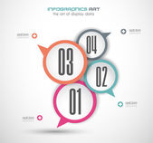 Infographics concept background with stylish bubbles. — Stock Vector