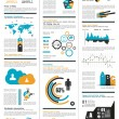 Cтоковый вектор: Infographic elements - set of paper tags, technology icons...