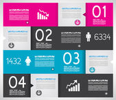 Infographic design template with paper tags. — Vector de stock