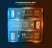 Infographic design template with glass surfaces — Stock Vector