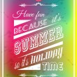 Happy summer poster with a colorful background, — Stock Vector