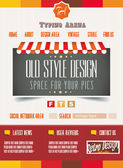 Vintage retro page template for a variety of purposes — Stock Vector