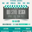 Stock Vector: Vintage retro page template