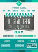 Vintage retro page template — Stock Vector