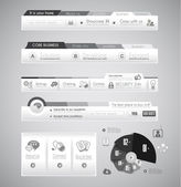 Quality web elements with infographic. — Stock Vector