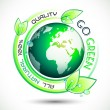 Stok Vektör: Ecology Green conceptual background with green related slogan