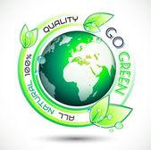 El trasfondo conceptual ecología verde con verde relacionados con el lema — Vector de stock