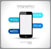 Infographics concept to display your data — Stock Vector