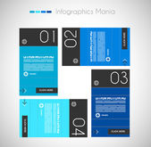 Infographics concept background to display your data in a stylish way. — Stock Vector
