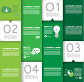 Infographic design template with design elements — Stock Vector