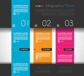 Infographic formgivningsmall med platt design paneler — Stockvektor