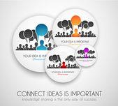 Worldwide communication and social media concept art — Stock Vector