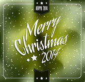 2014 Christmas and new year Themed frame — Stock Vector