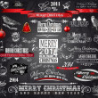2014 Christmas Vintage typograph design elements — Stock Vector #32121189