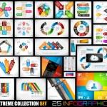 Extreme Sammlung von 25 Qualität Infografiken — Stockvektor