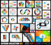 Extrema coleção de infográficos de qualidade 25 — Vetorial Stock
