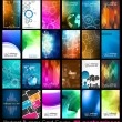 24 Abstract quality background for business cards — 图库矢量图片