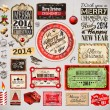 Christmas 2014 Vintage labels and typo collection — Stock Vector #32476143