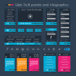 Stock Vector: Web Design Stuff: price panel and infographic