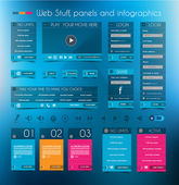 Web Design Stuff: price panel and infographic — Stock Vector