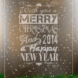 2014 merry christmas vintage typo achtergrond — Stockvector
