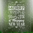 Stock Vector: 2014 Merry Christmas Vintage typo background