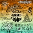 2014 christmas vintage typograph design elements — Stock Vector