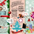2014 Christmas Vintage typograph design elements — Stock Vector #32995505