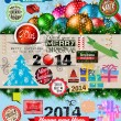 2014 Christmas Vintage typograph design elements — Stock Vector #33117347