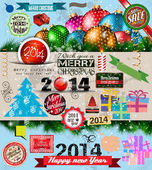 2014 Christmas Vintage typograph design elements — Wektor stockowy