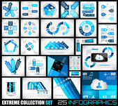 Extreme Collection of 25 quality Infographics background. — Stock Vector