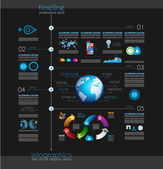 Timeline to display your data with Infographic element — Stock Vector