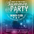Beach Party Flyer for your latin music event — Vector de stock  #34462921