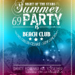 Beach Party Flyer for your latin music event — Wektor stockowy