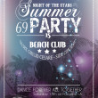 Beach Party Flyer for your latin music event  — Векторная иллюстрация