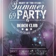 Beach Party Flyer for your latin music event — 图库矢量图片 #34468609
