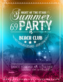Beach Party Flyer for your latin music event — ストックベクタ