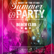 Beach Party Flyer for your latin music event — Cтоковый вектор