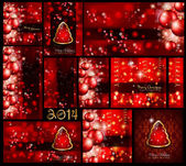 Christmas Background Collection - Red style — Stock Vector