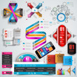 Mega Collection of quality Infographics objects . — Stock Vector