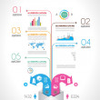 Timeline to display your data with Infographic elements — Stock Vector