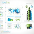 Timeline to display your data with Infographic elements — Stock Vector #34902801